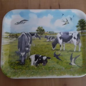 Dienblad met koeien